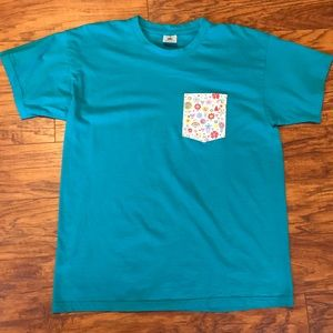Epcot Flower and Garden Blue Pocket T-shirt